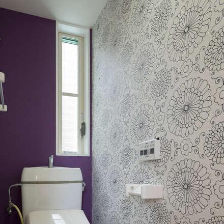 コンパクトで可愛いショートケーキハウス: M設計工房が手掛けた浴室です。