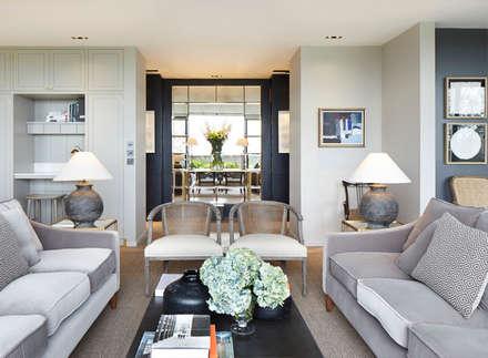 Hillcrest: modern Living room by De Rosee Sa