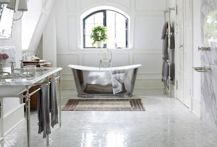 Drummonds Case Study: European Retreat, Denmark: Scandinavian Bathroom By  Drummonds Bathrooms