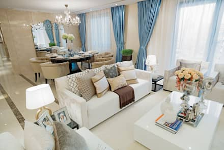 Metropolitan Heights | High-End Apartment by London: modern Living room by Another Design London Limited