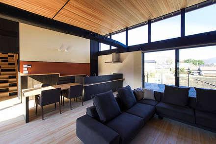 LDK: Egawa Architectural Studioが手掛けたリビングです。