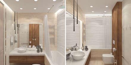 Квартира в ЖК Новопеределкино: Ванные комнаты в . Автор – Elena Potemkina
