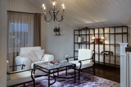 Дом в стиле прованс: Медиа комнаты в . Автор – Мария Бекетова  Света Лапина