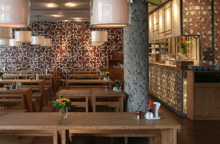 Diverse Wandprojekte:  Gastronomie von Gaedke Tapeten