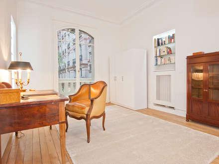 dcoration dun appartement haussmannien bureau de style de style classique par xavier lemoine