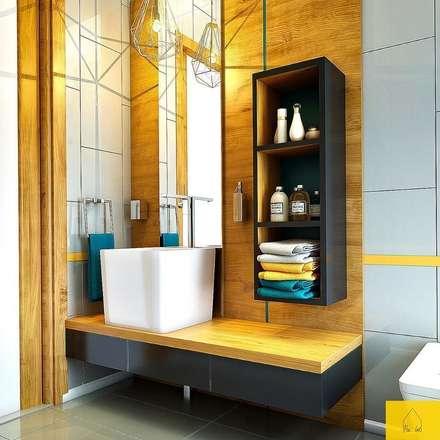 Penintdesign İç Mimarlık  – Erbek Nif 3+1 Villa için Tasarımlar - Üst Kat: modern tarz Banyo