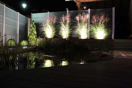 Glas mit Beleuchtung: moderner Garten von SIWA AG