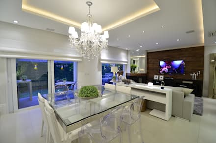 Estar/jantar: Salas de jantar modernas por Tania Bertolucci  de Souza  |  Arquitetos Associados