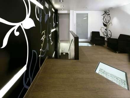 Decoración orgánica: Pasillos y vestíbulos de estilo  de Murales Divinos