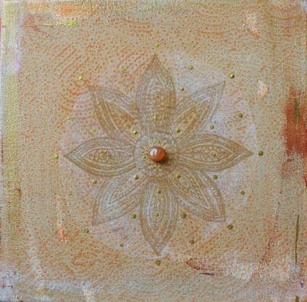 Vintage Mandala with Carneol : ausgefallene Wohnzimmer von Kristin Thielemann