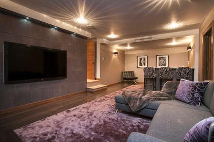 Villa South of France Interior cinema room: modern Media room by Urban Cape Interiors