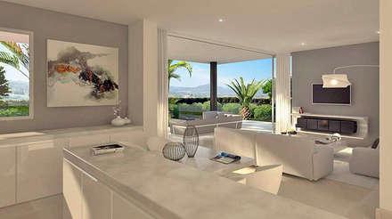 livin with american kitchen salones de estilo moderno de care4home - Salones Modernos