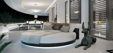 Big open bedrooms: Dormitorios de estilo moderno de care4home