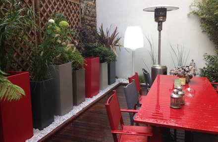 Bacs IMAGE'IN Hauts en couleurs !: Jardin d'hiver de style  par ATELIER SO GREEN
