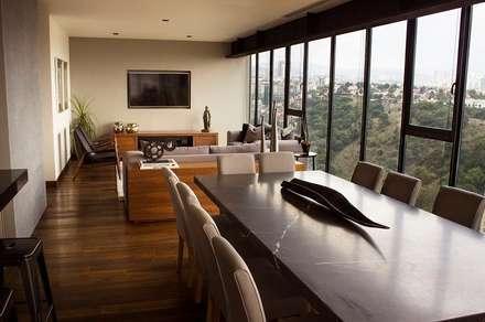 Departamento KL: Comedores de estilo moderno por Concepto Taller de Arquitectura