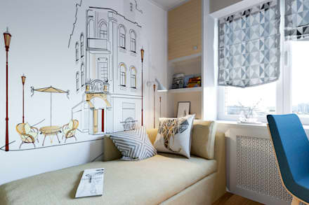 Квартира в Петербурге 45 м2: Детские комнаты в . Автор - Студия Малицких