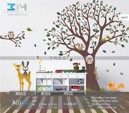 Dormitorios infantiles de estilo moderno por Vinilo314