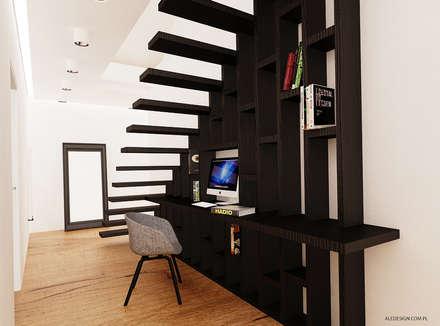 Oficinas de estilo minimalista por Ale design Grzegorz Grzywacz