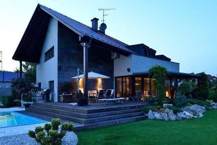 JARE DOM: styl , w kategorii Balkon, taras i weranda zaprojektowany przez ARCHITEKT.LEMANSKI