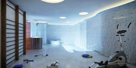 Spa. Maison BY: Spa de estilo minimalista de SINGULAR STUDIO