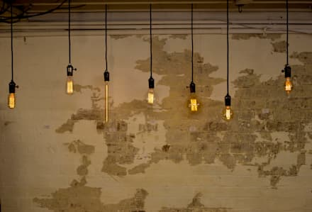 Decorative filament light bulbs:  Walls by William and Watson