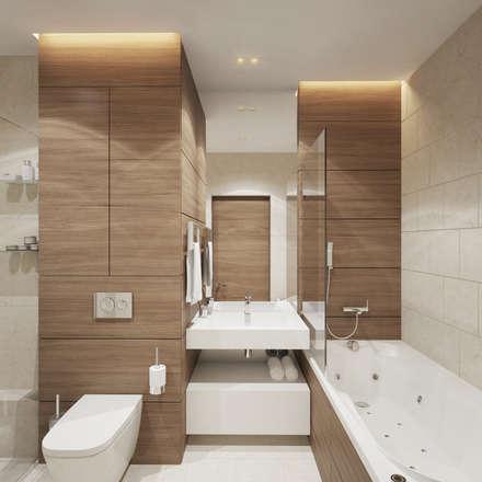 """Квартира в ЖК """"Чемпион парк"""": Ванные комнаты в . Автор – insdesign II"""