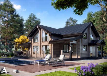 Благоустройство и ландшафтный дизайн на визуализациях частных домов: Сады в . Автор – Аrchirost