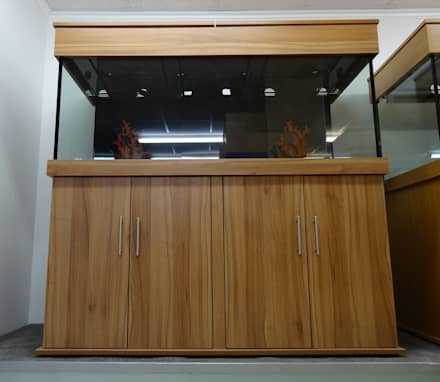 60″LX24″HX24″W STANDARD MARINE TANK WITH CABINET & HOOD:  Offices & stores by Prime Aquariums Ltd
