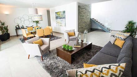 Privada El Secreto: Salas de estilo moderno por Ancona + Ancona Arquitectos