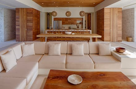 Casa Xixim: tropical Living room by Specht Architects