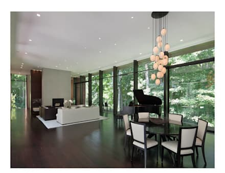 New Canaan Residence: modern Living room by Specht Architects