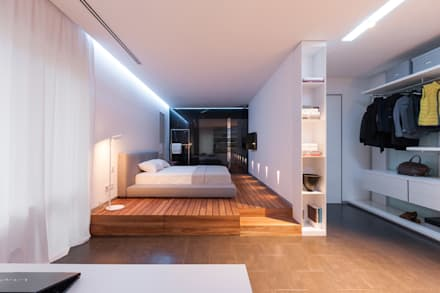 apartment V-21: minimalistic Bedroom by VALENTIROV&PARTNERS