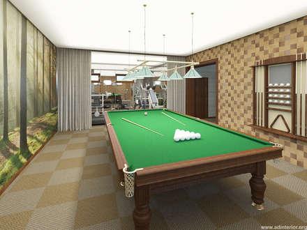 Бильярдная: Тренажерные комнаты в . Автор – A&D-interior