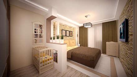 Интерьер 2-комнатной квартиры Новая Москва. Ватутинки: Спальни в . Автор – дизайн-бюро ARTTUNDRA