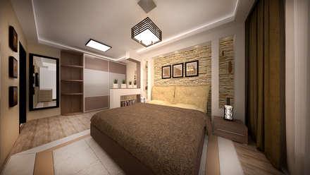 ห้องนอน by дизайн-бюро ARTTUNDRA