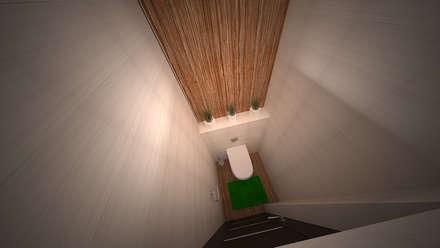 Интерьер 2-комнатной квартиры Новая Москва. Ватутинки: Ванные комнаты в . Автор – дизайн-бюро ARTTUNDRA