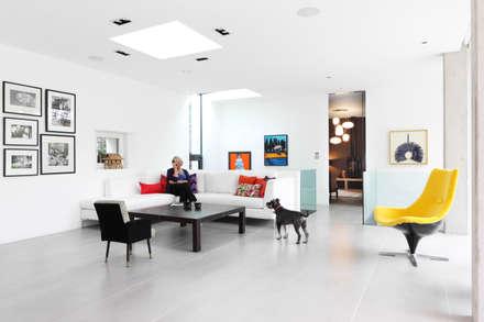 E2 PAVILION ECO HOUSE, BLACKHEATH: modern Living room by E2 Architecture + Interiors