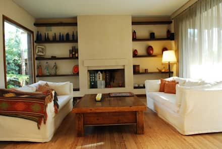 CASA TECTÓNICA EN TIGRE: Livings de estilo rústico por Parrado Arquitectura