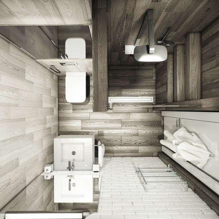 душевая&прихожая: Ванные комнаты в . Автор – Eclectic DesignStudio