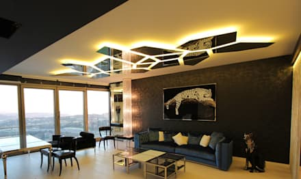 Private residence in İstanbul: modern Living room by Orkun İndere Interiors