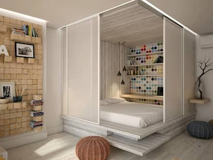 industrial Bedroom by YOUR PROJECT