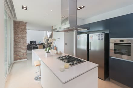 casa haras santa maria cocinas de estilo moderno por estudio arqt