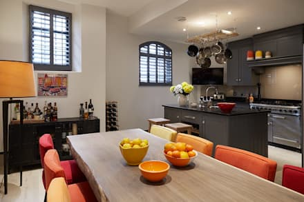 KITCHEN - DINING ROOM : modern Dining room by IS AND REN STUDIOS LTD