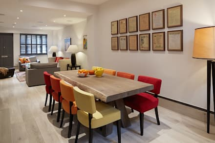 DINING SPACE: eclectic Dining room by REIS LONDON LTD