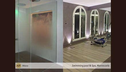 Private Spa and Swimming Pool: Palestra in stile in stile Classico di A2T