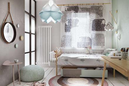 eclectic Nursery/kid's room by razoo-architekci