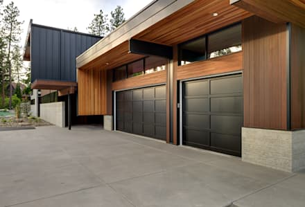 modern Garage/shed by Uptic Studios