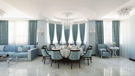 Проект 031: кафе-гостиная: Столовые комнаты в . Автор – студия визуализации и дизайна интерьера '3dm2'