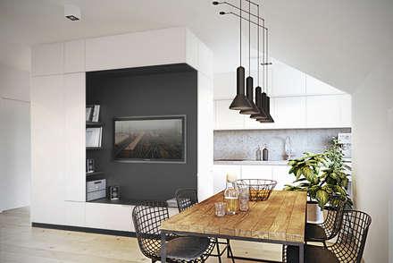 Wrocław / Wojszyce, mieszkanie - 68m2: styl , w kategorii Jadalnia zaprojektowany przez razoo-architekci