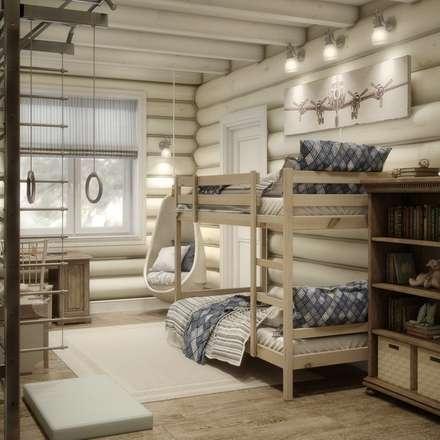Dormitorios infantiles de estilo rústico por MJMarchdesign